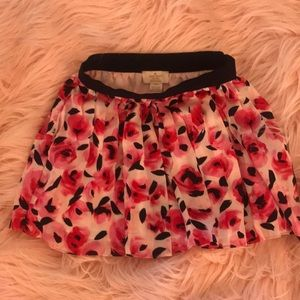 KATE SPADE- Little Girl's Rose Print Pleated Skirt
